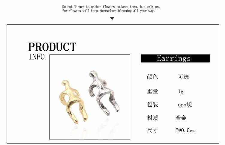 UK popularny srebrny kolor złote kolczyki klips do ucha wspinaczka człowiek nagi Climber Ear Cuff Helix klips do ucha kolczyki na chrząstkę