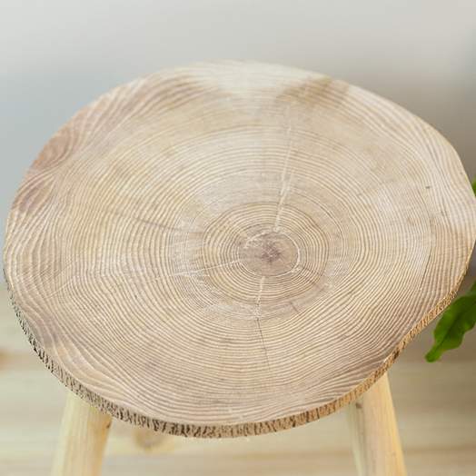 Astounding Knock Down Round 3 Legs Natural Pine Wood Small Side Table Alphanode Cool Chair Designs And Ideas Alphanodeonline