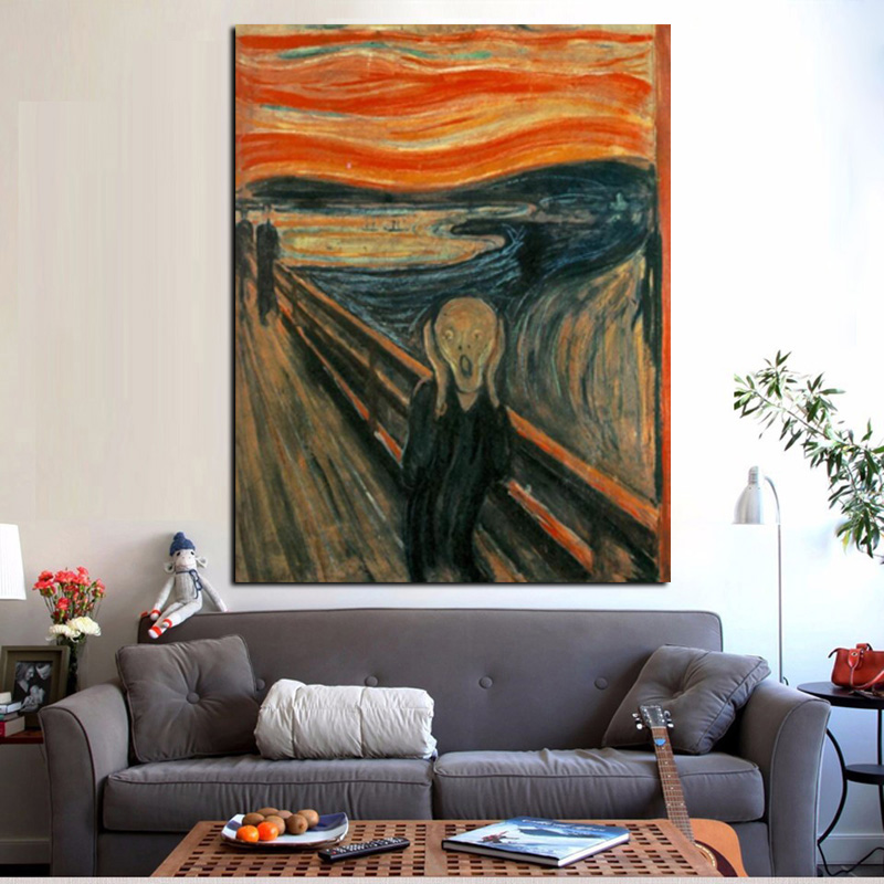 Digital HD Prints Edvard Munch Scream Abstract Oil Painting on Canvas Art Poster Wall Picture for Living Room Home Cuadros Decor (3)