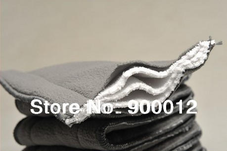 Charcoal Bamboo inserts with line Free Shipping 150pcs 5 Layers 3 2 Reusable Baby Cloth Diaper