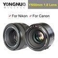 YONGNUO YN 50 мм Объективом F1.8 Большой Апертурой YN50mm AF/MF Авто Фокус Фиксированный Объектив для Canon EOS и Nikon DSLR камера