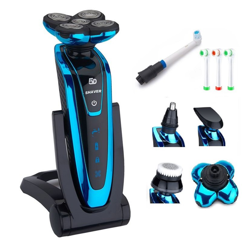 Men's 5D Shaver Grooming Kit Washable Electric Shaver Rechargeable Electric Razor For Men Face Beard Shaving Machine 220-240v