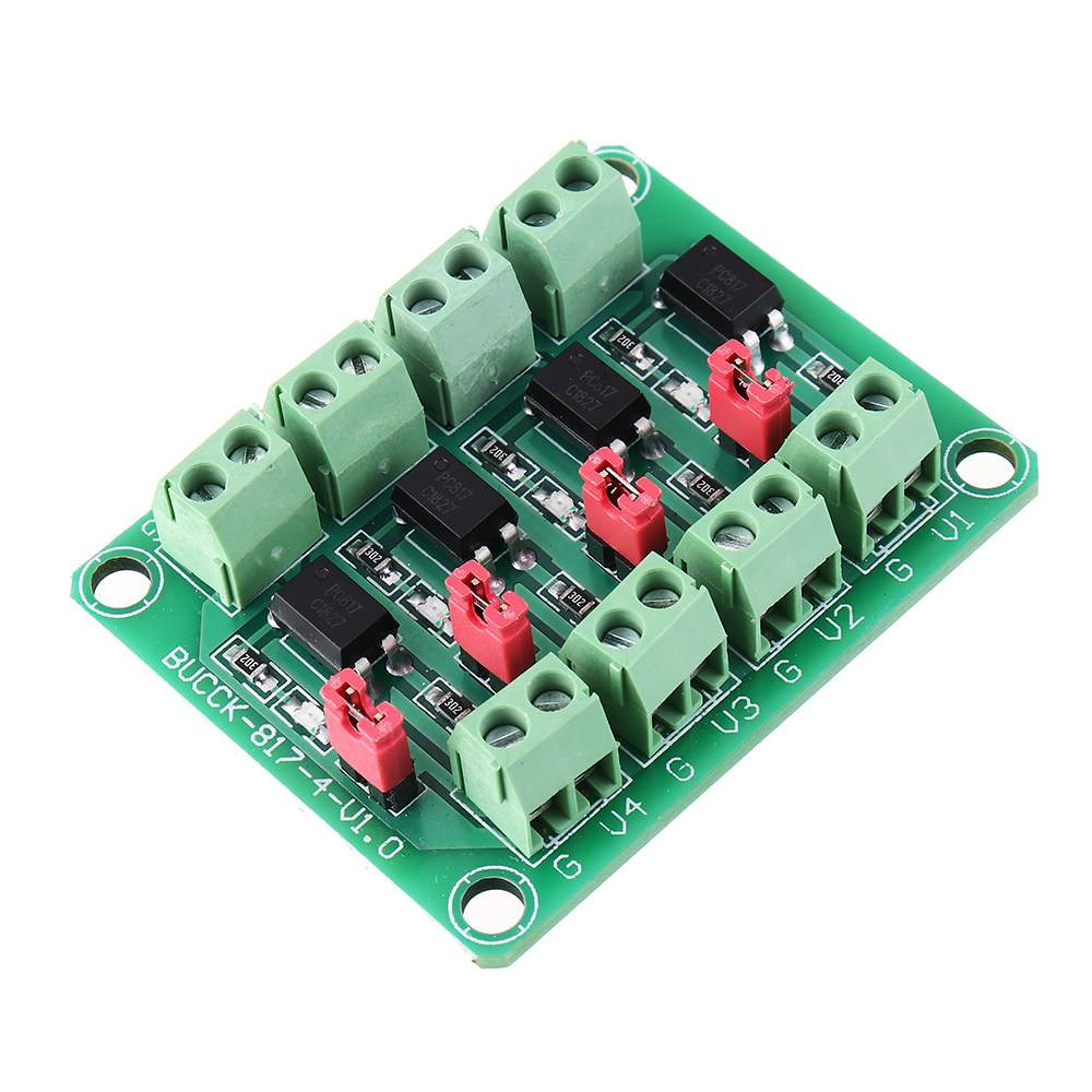 For 817 Optocoupler 4 Channel Voltage Isolation Board Voltage Control Switching Module Optical Isolation Module