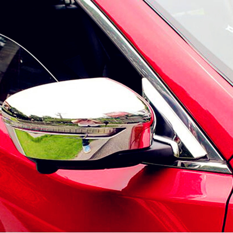 Bbincar ABS Chrome Side Rearview Mirror Cover Trim Protection Decoration Molding Sticker For nissan Rogue X-Trail 2014 2015 2016