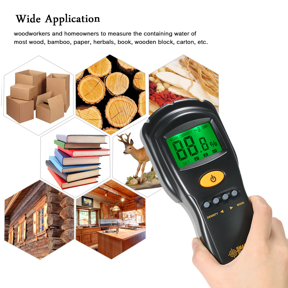 Smart Sensor Professionelle Holz Feuchtigkeit Meter Mini Lcd Digital