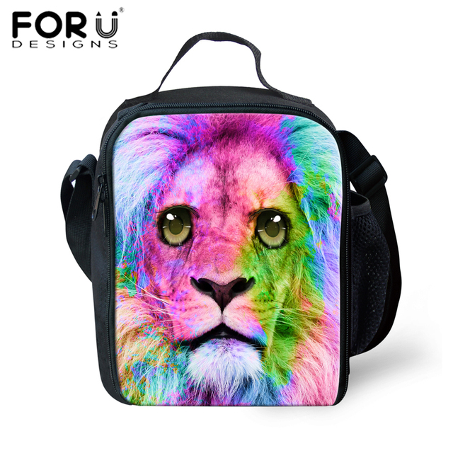 e44097aa8175 FORUDESIGNS Insulated Lunch Bag 3D Lion Head Picnic Bags for Women ...