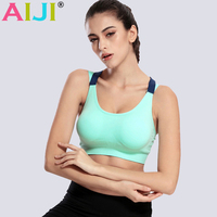 Women Sports Bra Yoga Shirts Running Gym Sportswear For Jogging Seamless Racerback Sport Wear Fitness Clothing