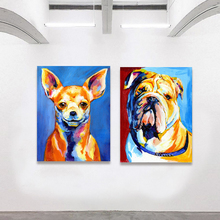 HDARTISAN Wall Art Picture Canvas Print Animal Oil Dog Puppy Retriever Bulldog Chihuahua For Living Room Home Decor