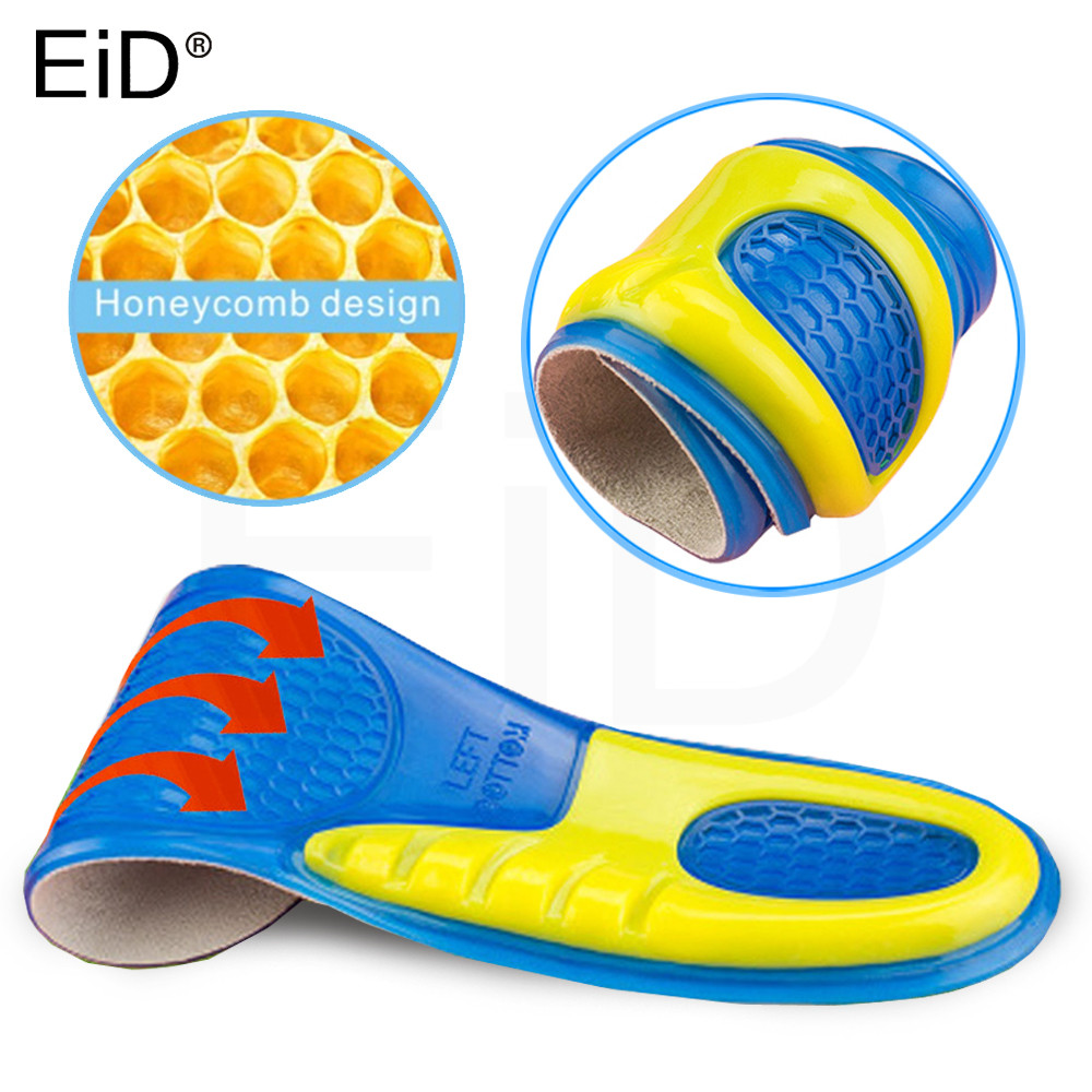 EiD Silicone Gel Insoles For The Feet Heel Cushion Soles Relieve Foot Pain Spur Arch Support Sport Shoe Pad Feet Care Inserts