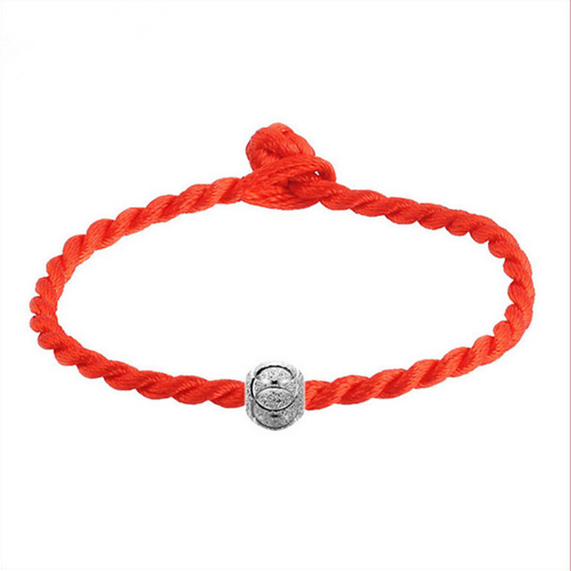 2017 red string editing simple and stylish woman with transfer beads bracelet wholesale Free shipping