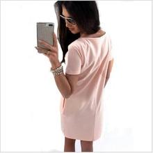 2Women Casual Cute Short Sleeve Letter Print Bronzing Dresses Loose Plus Size Long T Shirts Dress Vestido