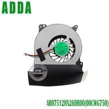 Cooler para cpu asus g750 g750jw g750j, ventilador de refrigeração cpu original e novo