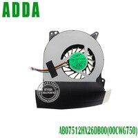 Revolução de refrigeração nova marca e cpu originais ventilador de refrigeração da cpu cooler fan para asus g750 g750jw g750j ab07512hx26db00 00cwg750