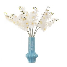 5pcs/Lot 9 Flower/Stem Plastic Orchids Real Touch Moth Orchid Butterfly Flower Table Wedding Party Event FreeShipping