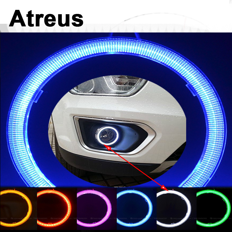 Atreus 2PCS For BMW e46 e39 e36 x5 x6 <font><b>Audi</b></font> a4 b6 a3 a6 c5 q5 tt <font><b>a8</b></font> Renault duster Lada granta Car LED Angel Eyes COB DRL Lights image