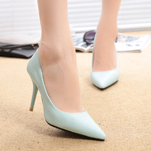 2016 Hot sale high heels 9.5CM patent leather pointed toe women pumps Party/Wedding/Work sexy ladies stiletto shoes 896