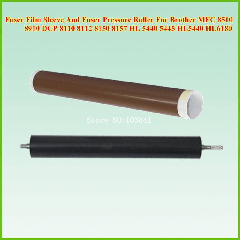 Fuser Film Sleeve+Lower Fuser Pressure Roller for Brother MFC 8510 8910 DCP 8110 8112 8150 8157 HL 5440 5445 HL5440 HL6180 fuser unit fixing unit fuser assembly for brother dcp 7020 7010 hl 2040 2070 intellifax 2820 2910 2920 mfc 7220 7420 7820 110v
