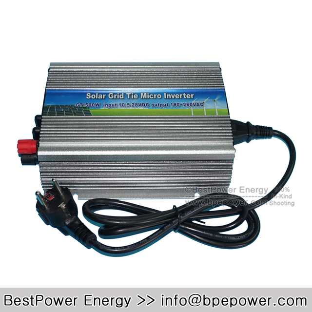 Top Selling 500W Grid Tie Micro Solar Inverter, 10.5~28V DC to AC 180~260V MPPT Pure Sine Wave Inversor for 620W 18V PV Module
