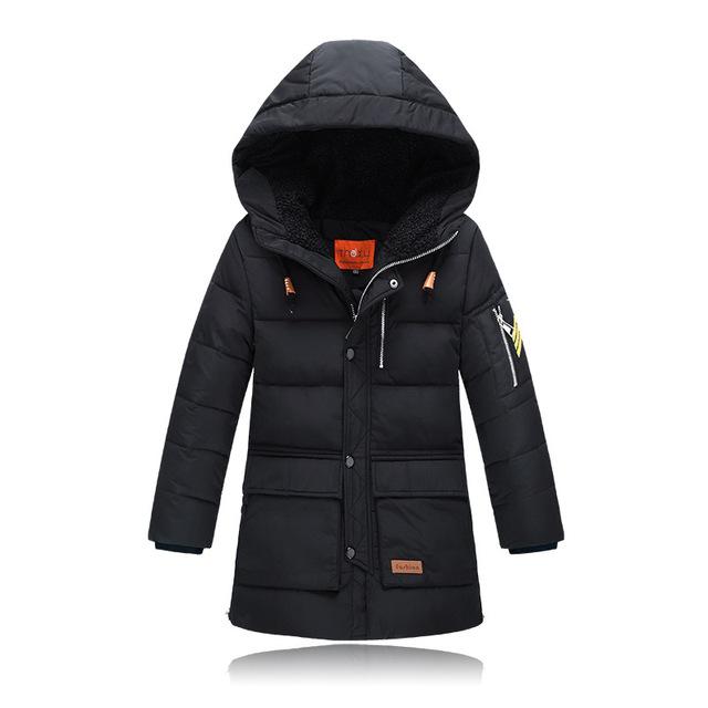 2017 Nuevos 6-14 Años del Muchacho del Invierno Duck Down Abrigos de Invierno Caliente Chaquetas Para Niños Gruesos Niños chaqueta Niños Ropa Exterior