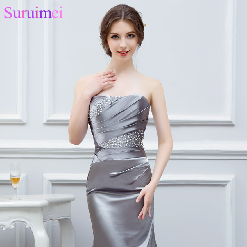 Royal Blue Long Prom Dresses Silver Gray High Quality Sweetheart Burdundy  Champagne Mermaid Prom Dress Women Long Prom Gown 5049327a7