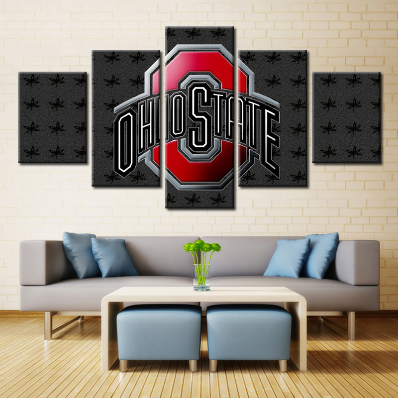 Ohio State Wall Art 3d wall art sport team logo ohio state football american wall art