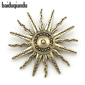 Factory Direct Sale Vintage Style Sun Brooch Pins for Men or Women in Antique Brass Color Plated(China)