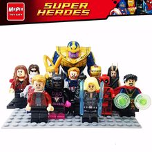 HOT Marvels Avengers Infinity War Building Blocks legoing Super Heroes Thanos Spider Iron man Doctor Strange Toys Figures DX30(China)