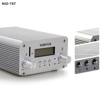 Free Shipping NIO-T6T 6W Professional High Quality Stereo PLL Transmitter Equipment with TF Card Supported