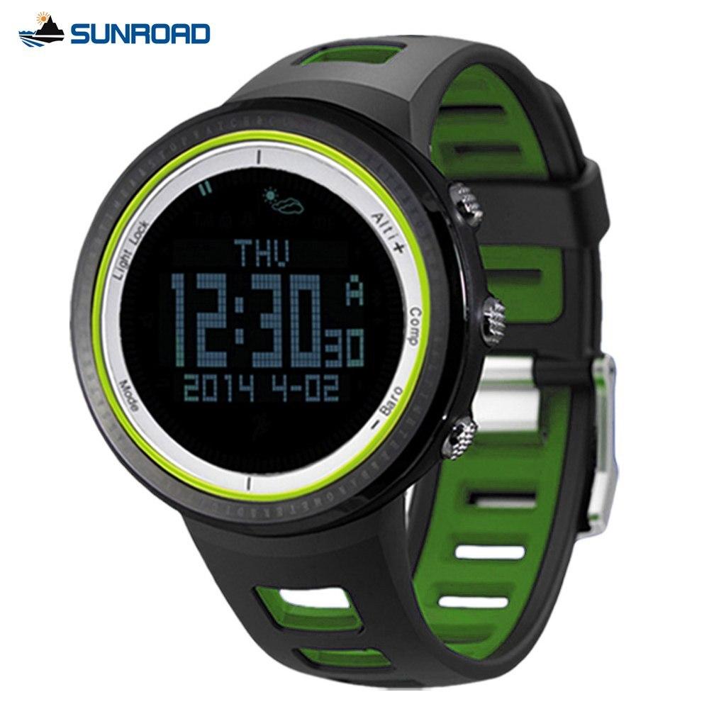 Montres de Sport avec altimètre baromètre boussole podomètre thermomètre 5ATM étanche numérique montre de Sport FR800NA/B
