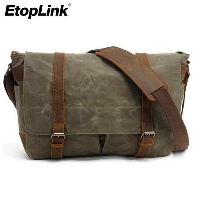 E6930 Portable Vintage Canvas Dslr Camera Shoulder Bag Diagonal Messenger For Canon Nikon