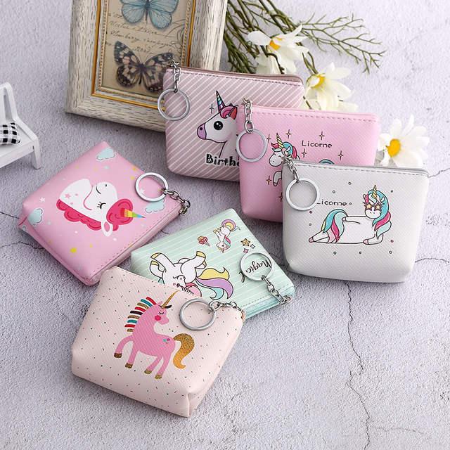 f8118ab22e9e04 R$ 4.1 32% de desconto|1 pc NOVO Design Compo o Saco Menina Mulher  Unicórnio Padrão Dos Desenhos Animados Coin Bolsas Flamingo Kid Colorido  Pequeno ...