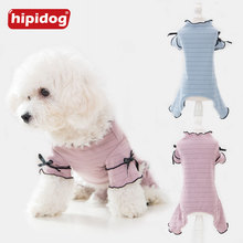 Hipidog Pets Solid Jumpsuit Rompers Clothes Outfit Spring Autumn Small Dogs Outwear for Chihuahua Yorkshire Terrier Puppy Cats