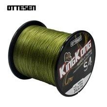 OTTESEN KingKong серии 300 м 330 ярдов PE плетеная леска 4 нити Multifilament карп рыбалка провода Японии материал