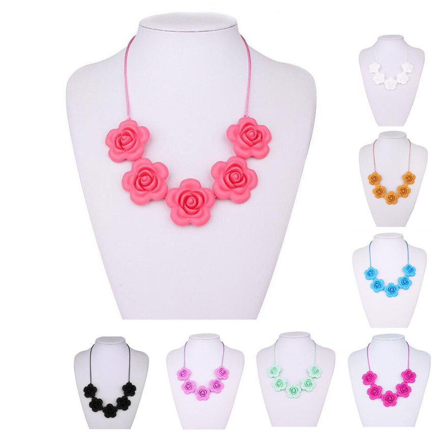 Necklaces & Pendants Mhs.sun Bpa Free Flower Beads Necklace Food Grade Teething Silicone Necklace Safty Baby Teether Toys Women Diy Necklace St1029 Rich In Poetic And Pictorial Splendor