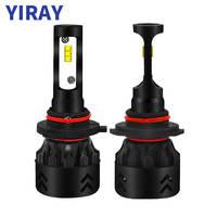 מנורות לרכב YIRAY רכב פנס LED H7 H4 LED H1 H11 9005 / HB3 מנורות ערפל 9006 / HB4 80W 9600LM 6000K 12V 24V לרכב פנס COB נורות רכב (1)