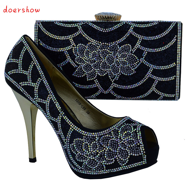 doershowNew Fashion Italian Shoes With Matching Bags For Party, High Quality Shoes And Bags Set for Wedding(Szie:38 or 42)!WOW25 doershow italian shoes with matching bags for party high quality african shoes and bags set for wedding szie 37 or 43 q1 31