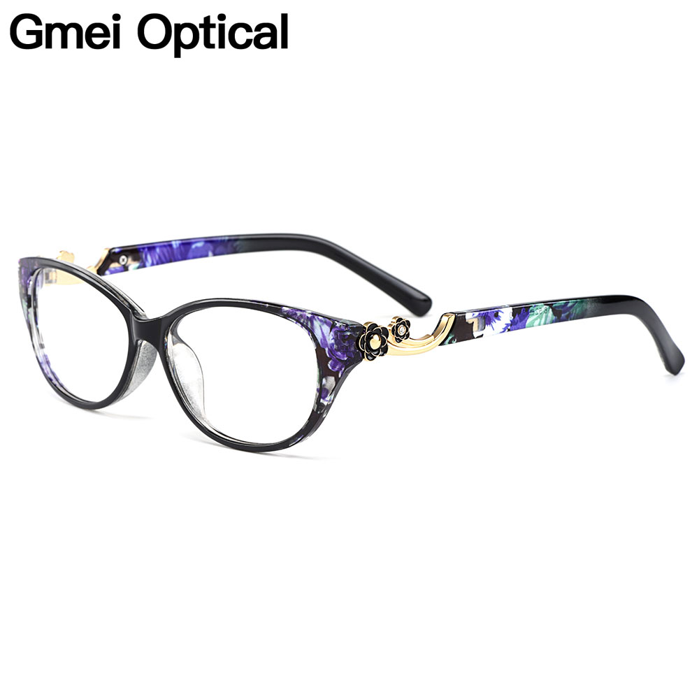 Gmei Optical Fashion Urltra-Light TR90 Oval Women Optical Glasses Frames For Myopia Reading Spectacle Women Eyewear M1418