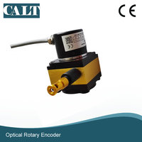 CALT 1000mm 0 to 5v / 0 to 5K ohm Analog output draw wire sensor spring rope encoder cable pull transducer