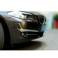 Car Styling!For BMW 5 Series F10 2011 2013 Stainless Steel Front Head Fog Light Lamp Cover Trims 2pcs