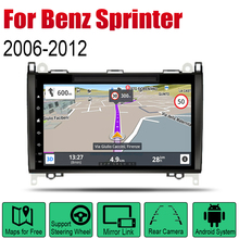цена на AutoRadio 2 Din Android Car DVD Player For Mercedes Benz Sprinter 2006~2012 NTG GPS Navigation Wifi Map Multimedia system Stereo