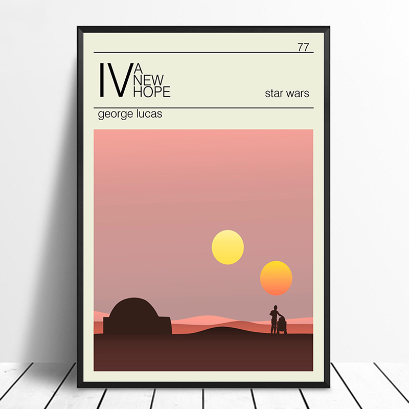 A New Hope Poster Star Wars Trilogy Minimalist Vintage