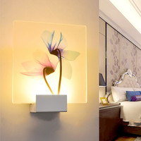 ICOCO Simple Living Room Lamp Hotel Decoration Lamp Dragonfly Lotus Flower Printed Wall Light White/ Warm White