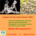 Tongkat Ali 200:1 Root Extract Powder Long Time Sex For Men 500mg 500 CAPS