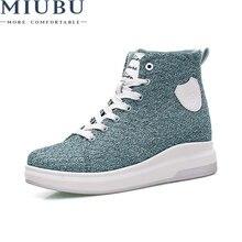 Miubu/tenis feminino; Повседневная женская обувь; Черные кроссовки