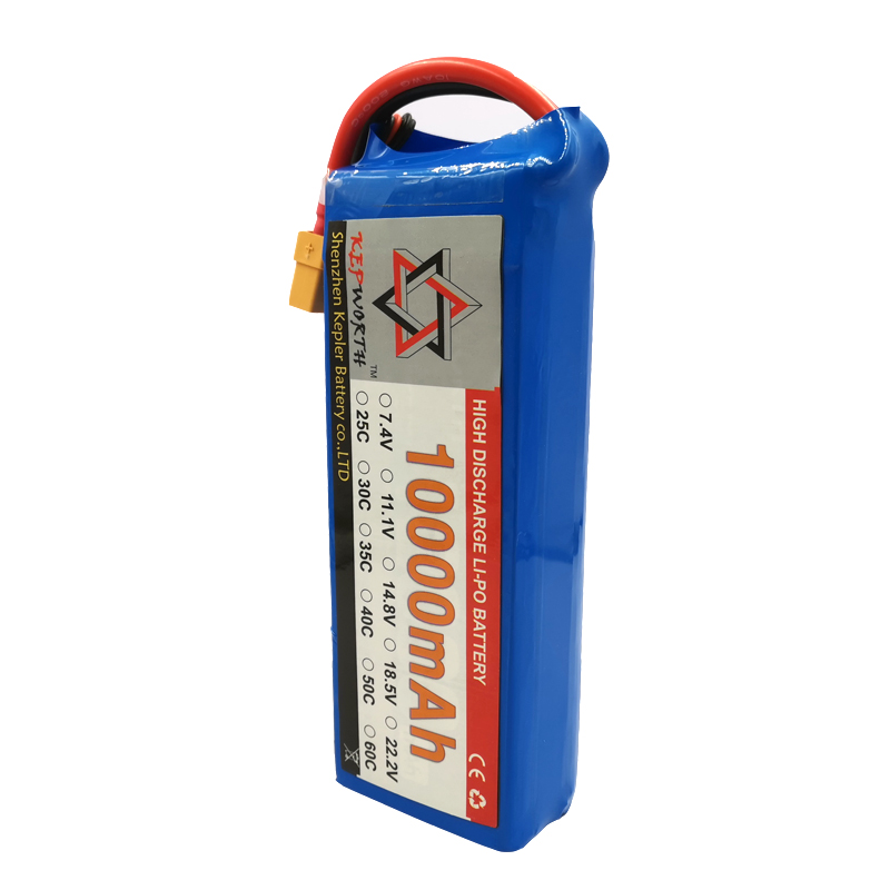 2S 7.4V RC Lipo Battery 10000mAh 25C High Capacity For Helicopter Drone Plane Car Toy RC Li-Po Battery High Power image