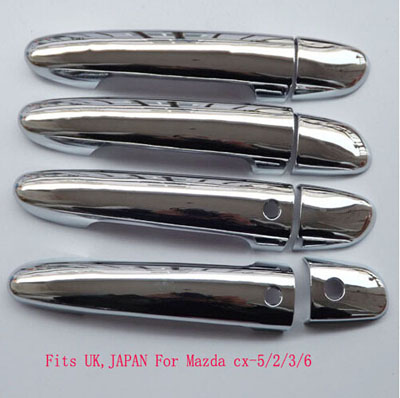 for Mazda Cx5 Mazda3 Mazda2 Mazda6 2010 2014 ABS Chrome Door Handle Cover Fit UK Japan Car Styling Stickers Accessories c-3