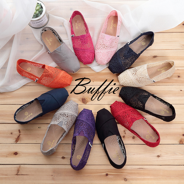 2017 Buffie Марка Мода Женщины Поскользнуться На Ботинок квартир выдалбливают Лето Леди Повседневная Обувь Весна Дышащий Натуральной Кожи сандалии