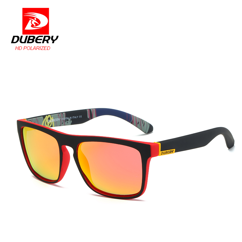 DUBERY Mirror Polarized font b Sunglasses b font Men Aviation Driving Shades Male Sun Glasses For