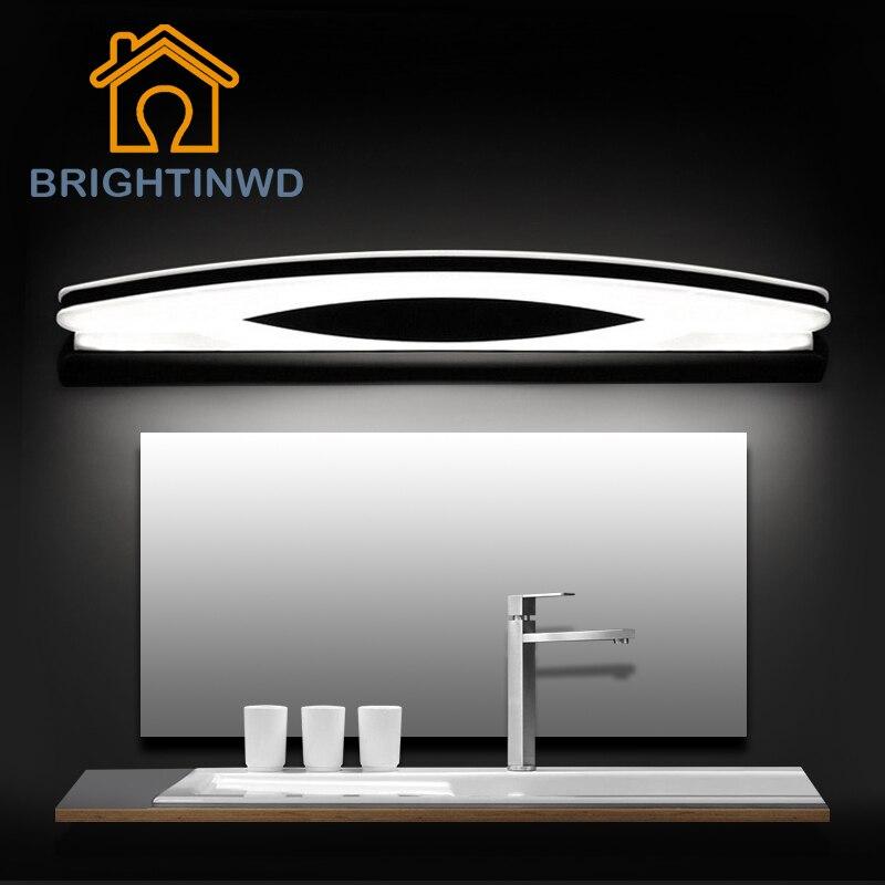 LED Espelho de Luz Parede Lampada AC90-260V 80 70 54 39 cm cm cm cm Cosméticos Acrílico Espelho Do Banheiro Da Lâmpada Interior BRIGHTINWD