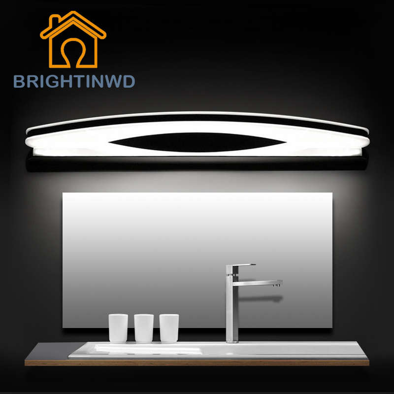LED Mirror Light Wall Lampada AC90-260V 39cm 54cm 70cm 80cm Cosmetic Acrylic Indoor Bathroom Mirror Lamp BRIGHTINWD